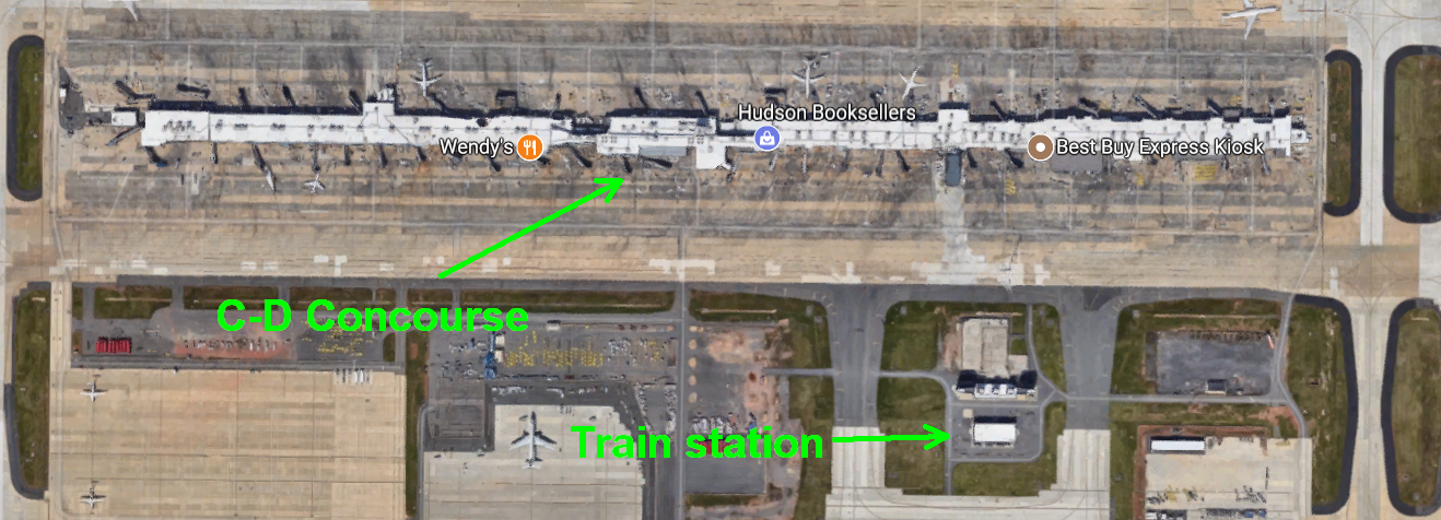 Dulles\'s C and D concourse - Ant-like Persistence